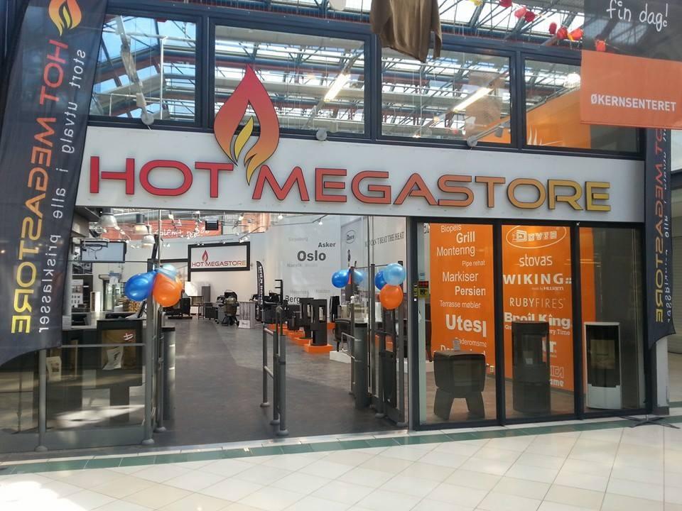 Megastore skilt inngangsparti