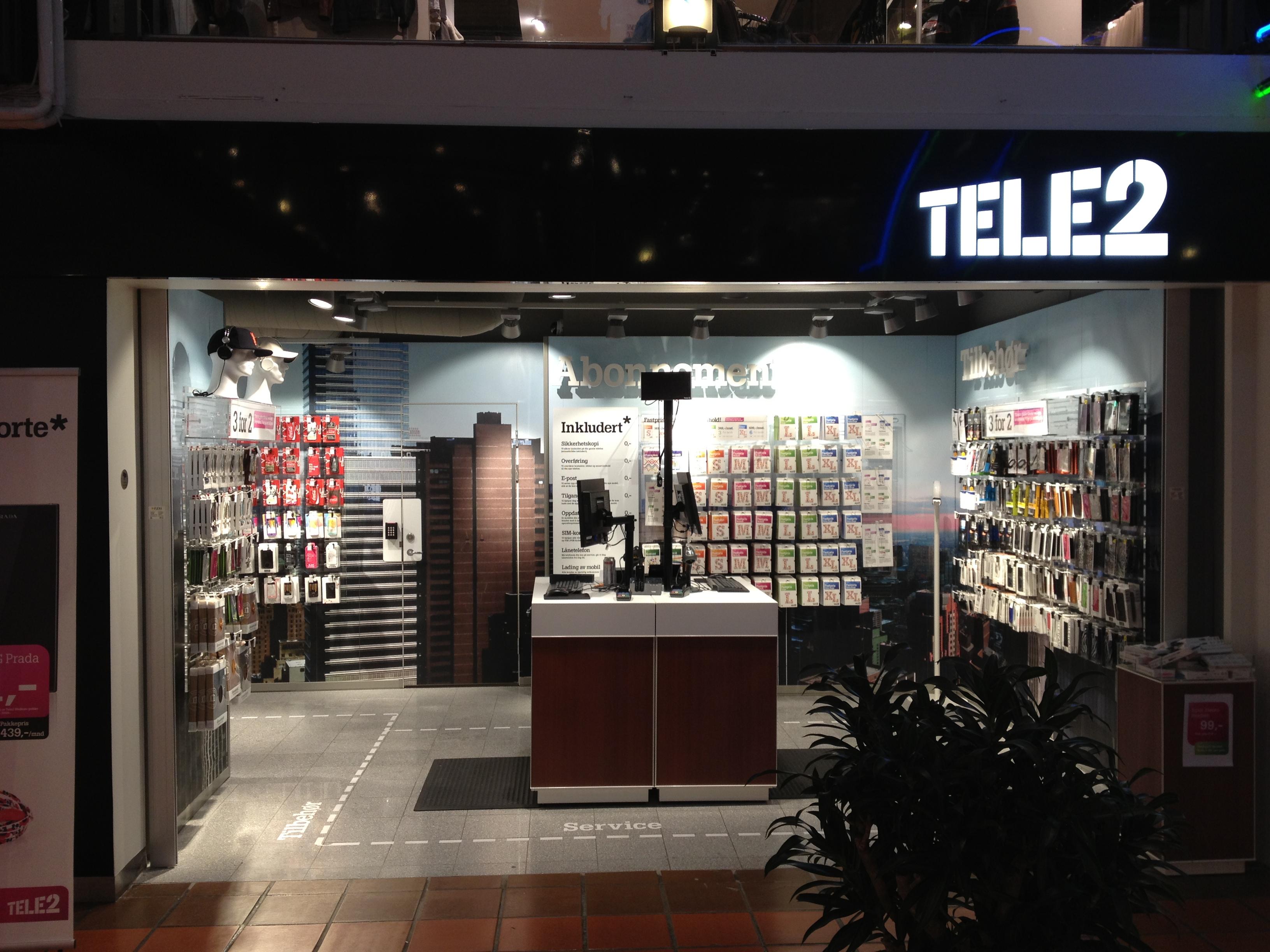 Tele2 Skilt med lys