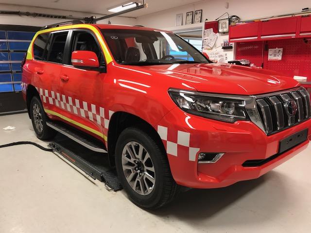 Bilde av Helfoliering av brannbil med refleksdekor
